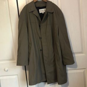 Towne trench coat with removable liner